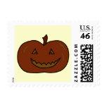Happy Pumpkin. Dark Colors. Halloween. Stamp