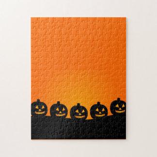 Happy Pumpkin Face Puzzle