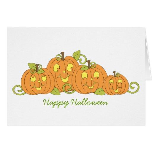 Happy Pumpkin Family Stationery Note Card