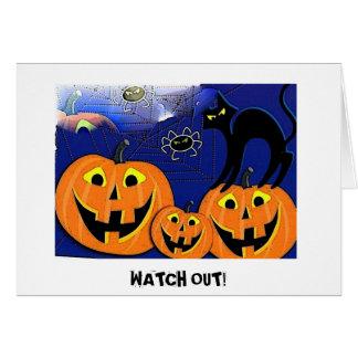 Happy Pumpkin halloween card