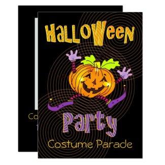 Happy Pumpkin Halloween Costume Party Invitation