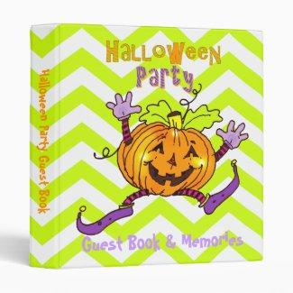 Happy Pumpkin Halloween Party Guest Book 1 Inch Binder