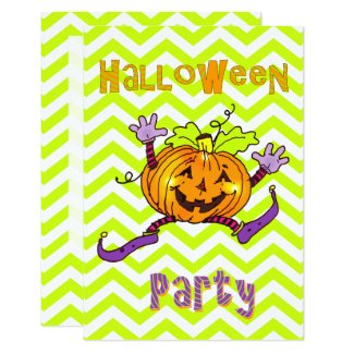 Happy Pumpkin Halloween Party Invitation