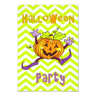Happy Pumpkin Halloween Party Personalized Announcements