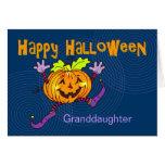 Happy Pumpkin Happy Halloween Granddaughter Greeting Card