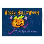 Happy Pumpkin Happy Halloween Niece Card
