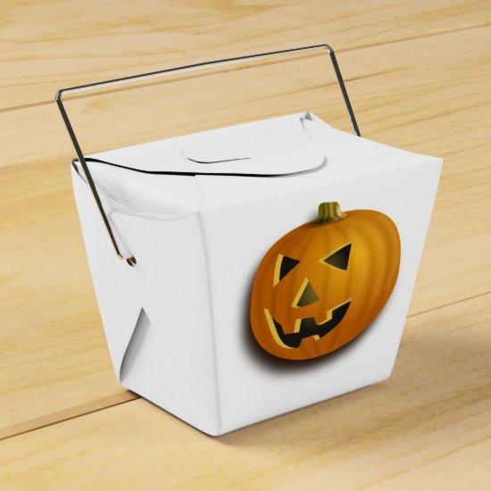 Happy Pumpkin Jack-O-Lantern Halloween Goodie Box