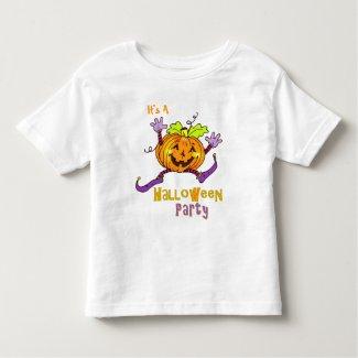 Happy Pumpkin Party Halloween Toddler T-shirt