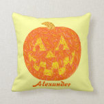 Happy Pumpkin Personalized Jack O Lantern Pillow