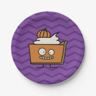 Happy Pumpkin Pie 7 Inch Paper Plate