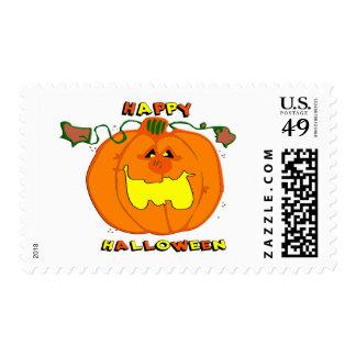 Happy Pumpkin Postage Stamps