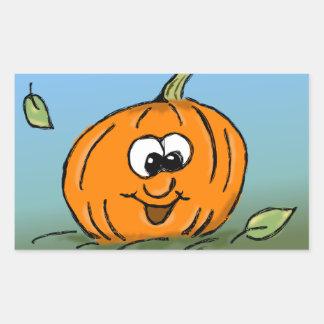 Happy Pumpkin Rectangular Sticker