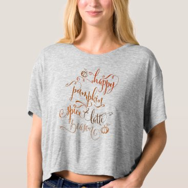Beach Themed Happy Pumpkin Spice Latte Season T-shirt