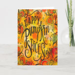 Happy Pumpkin Spice Season Thanksgiving Card Happy Pumpkin Spice Season Thanksgiving Card (Visit shop to explore more pretty and inspiring cards & gifts.)
