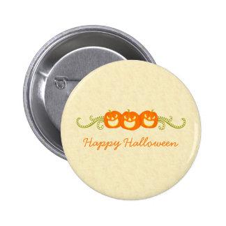 Happy Pumpkin Swirls Halloween Button