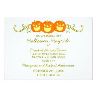 Happy Pumpkin Swirls Halloween Party Invitation