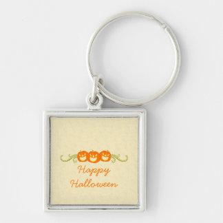 Happy Pumpkin Swirls Halloween Premium Keychain