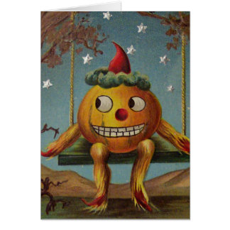 Happy Pumpkin (Vintage Halloween Card) Greeting Card