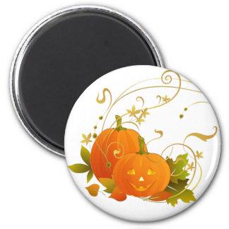 Happy Pumpkins 2 Inch Round Magnet