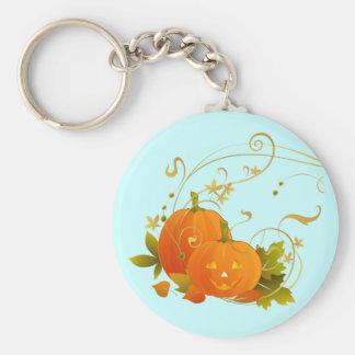 Happy Pumpkins Basic Round Button Keychain