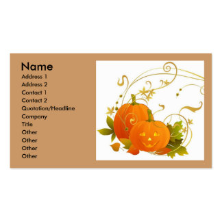Happy Pumpkins Double-Sided Standard Business Cards (Pack Of 100)