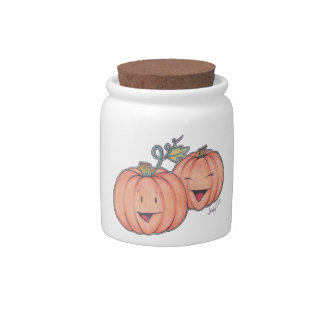 Happy Pumpkins Candy Jar