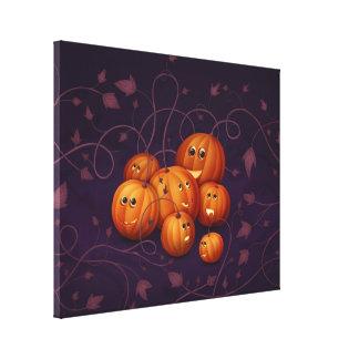 Happy Pumpkins Canvas Print