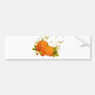 Happy Pumpkins Car Bumper Sticker