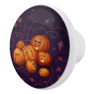 Happy Pumpkins Ceramic Knob
