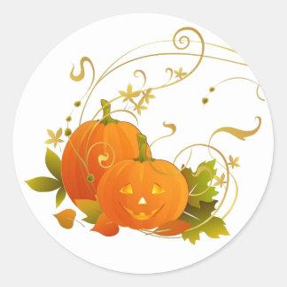 Happy Pumpkins Classic Round Sticker