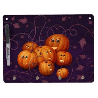 Happy Pumpkins Dry Erase Board With Keychain Holder
