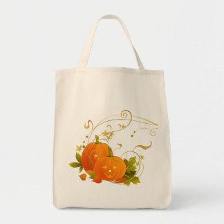 Happy Pumpkins Grocery Tote Bag