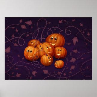 Happy Pumpkins Posters