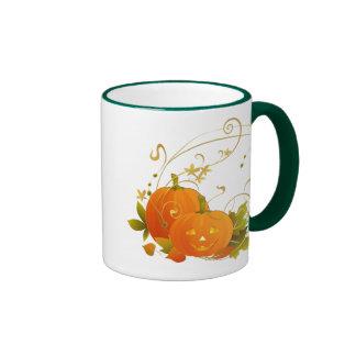 Happy Pumpkins Ringer Coffee Mug