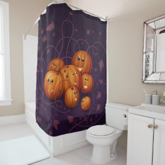 Happy Pumpkins Shower Curtain