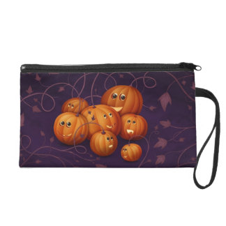 Happy Pumpkins Wristlet