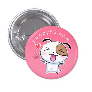 Happy Puppy52 in pink Button