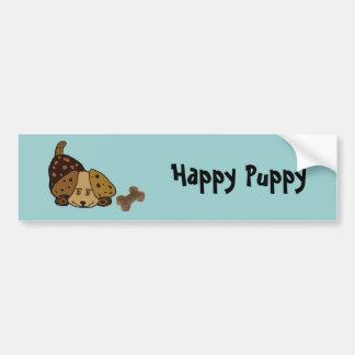 Happy Puppy Christmas Bumper Sticker