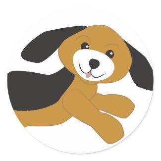 Happy Puppy Dog sticker