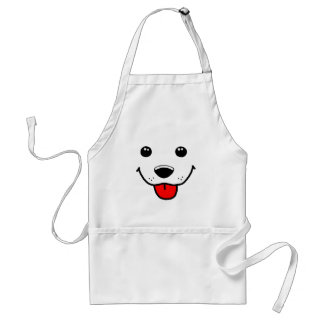 Happy Puppy Face Adult Apron