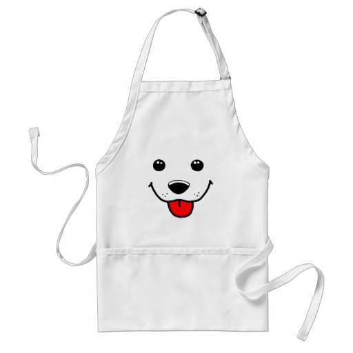 Happy Puppy Face Aprons