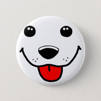Happy Puppy Face Button