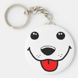 Happy Puppy Face Keychain