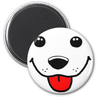 Happy Puppy Face Refrigerator Magnet