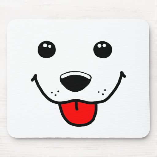 Happy Puppy Face Mouse Pad