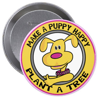 Happy Puppy - Pinback Button