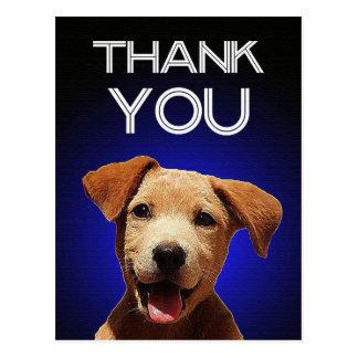 Happy Puppy Thank You Postcard