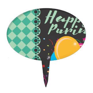 happy purim cake topper
