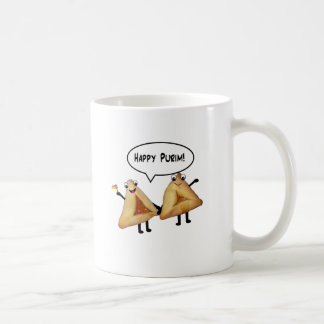 Happy Purim - customizable background color Classic White Coffee Mug