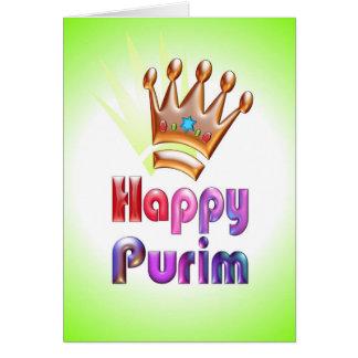 Happy Purim fun card Crown with Star of David